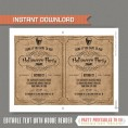 Adult Halloween Invitation (Sand)