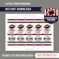 Atlanta Falcons Ticket Invitation - Editable PDF file