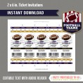 Baltimore Ravens Ticket Invitation - Editable PDF file