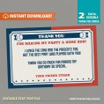 Baseball Party Ticket Invitation with FREE Thank you Cards!