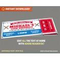 Baseball Party Ticket Invitation