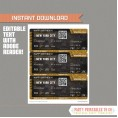Editable Airplane Boarding Pass (Gold / Chalkboard)