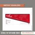 Editable Airplane Boarding Pass (Red)