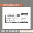 Editable Airplane Boarding Pass (Glitter Silver)