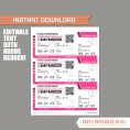 Editable Airplane Boarding Pass (Pink)