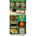 Basketball Invitation & Party Decorations (Boston Celtics)