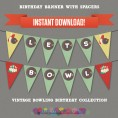 Vintage Bowling Party Printable Collection & Invitation