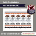 Chicago Bears Ticket Invitation - Editable PDF file