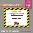 Construction Invitation with FREE Thank you Card (Design 3)