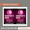Disco Party Invitation with FREE Thank you Card