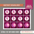 Disco Party Cupcake Toppers