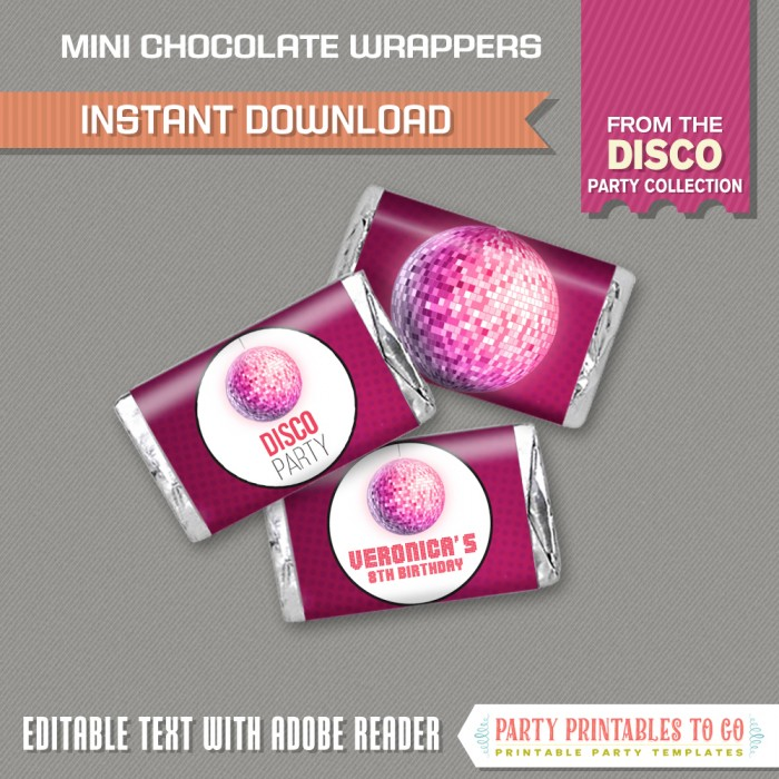 Disco Party Mini Chocolate Wrappers
