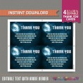 Disco Party Thank You Cards (Blue)