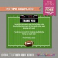 Football Ticket Invitation with FREE Thank you Card