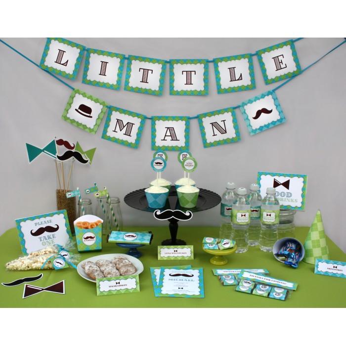 Little Man - Mustache Birthday Printable Collection & Invitation
