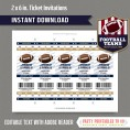 Los Angeles Rams Ticket Invitation - Editable PDF file
