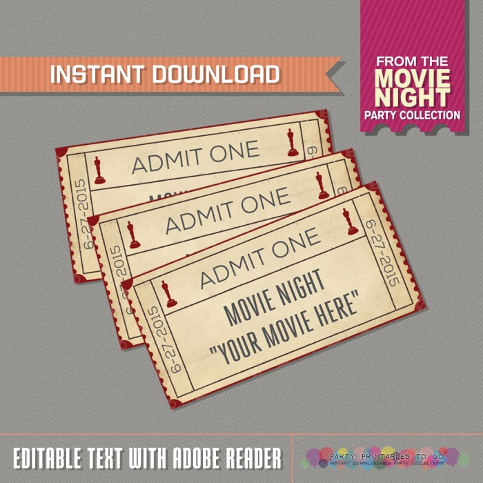 Movie Night Admission Tickets