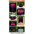 Neon Glow Party Invitations & Decorations