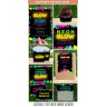 Neon Glow Party Invitations & Decorations for boys (Yellow)