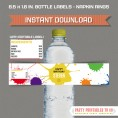 Paintball Party Printable Bottle Labels / Napkin Rings