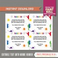 Paintball Invitation with FREE Thank you Card