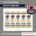 Pittsburgh Steelers Ticket Invitation - Editable PDF file