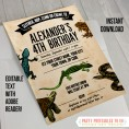 Reptile Party Invitations & Decorations
