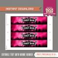 Rockstar Party Bottle Labels or Napkin Rings (Pink)