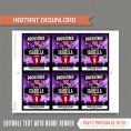 Rockstar Party Backstage Pass printable Insert (Purple)