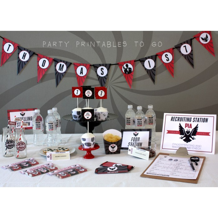 Secret Agent Party Printables, Invitations & Decorations