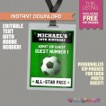 Soccer Ticket Invitation with FREE VIP Passes! (Design 2)
