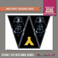 Star Wars Party Printable Birthday Banner with Spacers