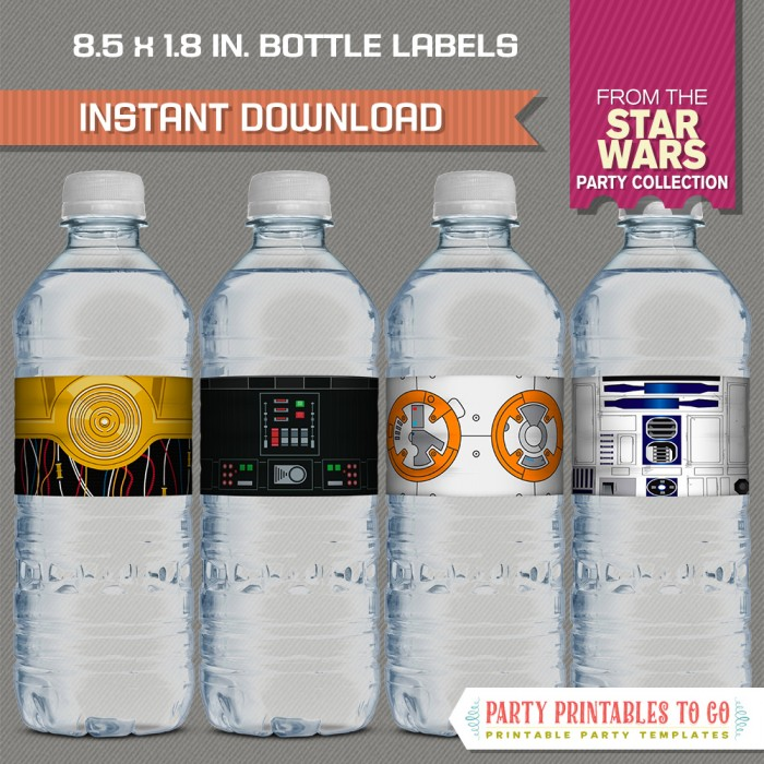 Star Wars Party Bottle Labels / Napkin Rings