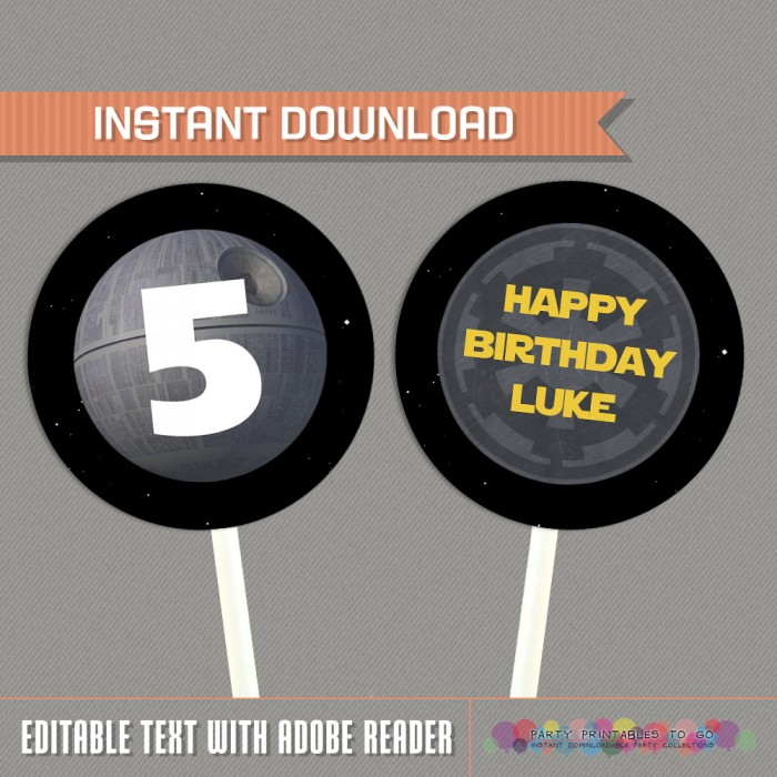 Star Wars Party Printable Birthday Labels