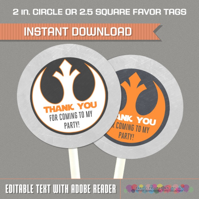 Star Wars Favor Tags (Rebel Alliance)