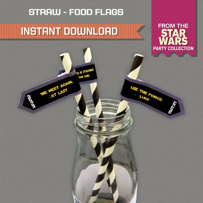 Star Wars Straw Flags / Star Wars Party