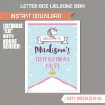 Unicorn Party Welcome Sign