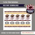 Washington Redskins Ticket Invitation - Editable PDF file