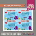 Under The Sea Invitation with FREE Thank you Card (Design 2)