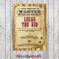 Cowboy Birthday Party Printable Collection & Invitation