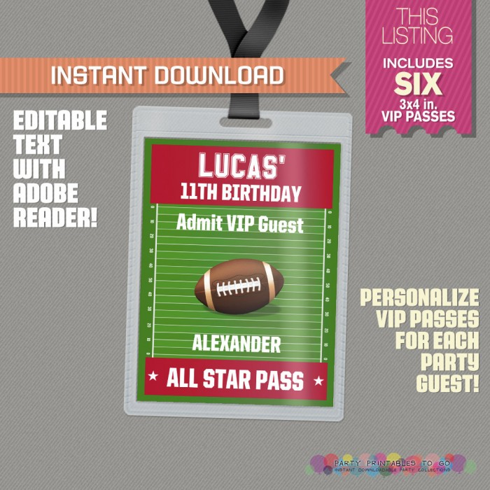 Football Party All Star Pass