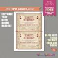 Movie Night Birthday Invitation with FREE Admission Tickets