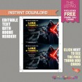 Star Wars The Force Awakens Party Printable Invitation with FREE Thank you Card